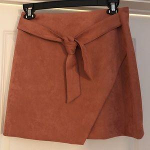Loft | Mini Skirt | Suede | Pink | Size 6